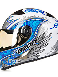 BEON B-500 Motorcycle Full Helmet ABS Anti-Fog Anti-UV Security Helmet Unisex Fashion