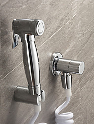 Bidet Faucets  ,  Contemporary Traditional Modern  with  Chrome Single Handle One Hole  ,  Feature  for Wall Mount Pull out
