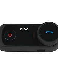 EJEAS-E2 1PCS Motorcycle Bluetooth Headset / Walkie-Talkie Support 4-Person Switching Intercom 3.0 Professional Bluetooth Voice Prompts