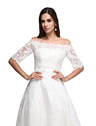 Women's Wrap Vests Lace Wedding Party/Evening Lace