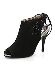 sandálias Primavera-Verão sapatos clube queda gladiador partido conforto velo de casamento&noite curta stiletto ocasional calcanhar