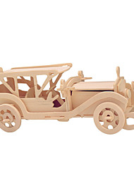Puzzles Holzpuzzle Bausteine Spielzeug zum Selbermachen Auto Chinesische Architektur 1 Holz Elfenbein Model & Building Toy