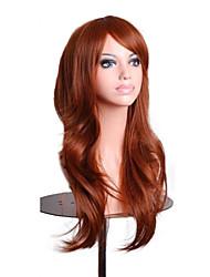 70 centímetros de laranja moda ondulado mulheres marrom cabelo do traje do lolita sintética partido cosplay peruca completa 4 cores