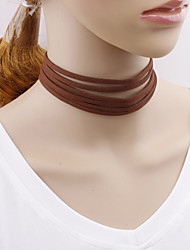 Multi Layer Korean Velvet Choker Lace Necklaces Jewelry Wedding Party Special Occasion Halloween Birthday Engagement Daily Casual Christmas Gifts Line
