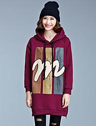 unter beiden Seiten eines Reißverschlusses Kunst m Patch beiläufige lose mit Kapuze Pullover und dicke Samtjacke gespalten
