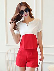 Sign 16,452,016 summer new fashion suit Slim Korean temperament ladies cotton T-shirt + cotton