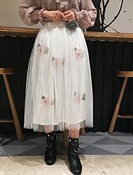 2017 printemps nouvelles petites fraîches super belle modèles lourds jupes de gaze brodée de fleurs à la main