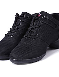 Women's Dance Shoes Sneakers Breathable Synthetic Low Heel Black