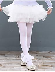 Ballet Bottoms Children's Training Polyester Lace Ruffles Splicing 1 Piece Natural Skirt