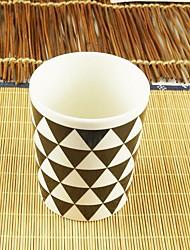 Minimalismo Artigos para Bebida, 300 ml Simples padrão geométrico Cerâmica Café Leite Copos