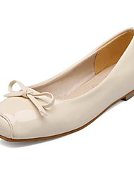 Women's Flats Spring Summer Fall Patent Leather Office & Career Dress Casual Flat Heel Bowknot