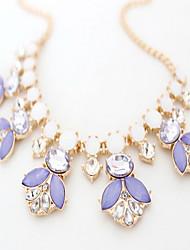 Women's Strands Necklaces Jewelry Jewelry Gemstone Gem Alloy Flower Style European Fashion Personalized Euramerican Purple Jewelry For