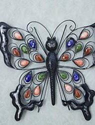 Wall Decor Iron Ceramic Modern Wall Art Creative Butterfly