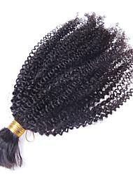 Cabelo Bundle Cabelo Mongol Kinky Curly 12 meses 1 Peça tece cabelo