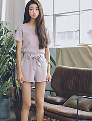 Women's Casual Two-Piece Jacket  Shorts