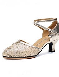 Net surface Latin dancing shoes female adults with companionship square dance dancing shoes with