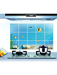 Underwater World Kitchen Ceramic Tile Wall Prevent Oil Stickers
