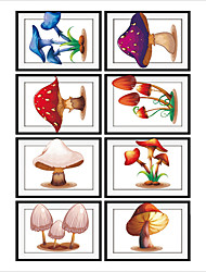 Mushroom Frame Drawing PVC Decorative Skin Wall Stickers for The Office Or Living Room