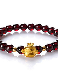 Strand Bracelet Crystal Crystal Gem Natural Fashion Jewelry Dark Red Jewelry 1pc