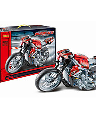 Building Blocks For Gift  Building Blocks Leisure Hobby Motorcycle Plastic 2 to 4 Years 5 to 7 Years 8 to 13 Years 14 Years & Up Red Toys