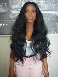 frente perucas não transformados 8-26 polegadas 130% de densidade virgem brasileira cor natural onda rendas frente peruca de cabelo humano