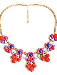 Femme Colliers chaînes Bijoux Bijoux Gemme Alliage Pendant Personnalisé euroaméricains Mode Bijoux de Luxe Européen Rouge Bijoux Pour