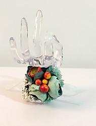 """Wedding Flowers Round Roses Wrist Corsages Wedding Party/ Evening Dried Flower 6.69""""(Approx.17cm)"""