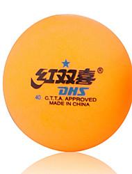 1 Pièce 2 étoiles 6 Ping Pang/Tennis de table à billes Orange