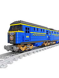 Play Trains & Railway Sets For Gift  Building Blocks Model & Building Toy Train ABS 5 to 7 Years 8 to 13 Years Blue Toys