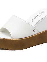 Sandals Summer Club Shoes PU Dress Wedge Heel Studded