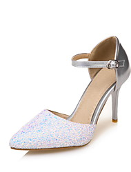 Damen High Heels Pumps Paillette Lackleder Sommer Hochzeit Kleid Party & Festivität Pumps Paillette Gold Silber 7,5 - 9,5 cm