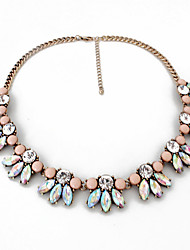 Women's Strands Necklaces Jewelry Gemstone Alloy Jewelry Fashion Personalized Euramerican Pink Jewelry Party Special Occasion Engagement