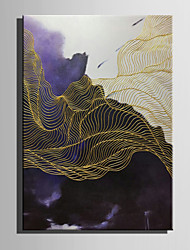 E-HOME Oil painting Modern Abstract Line Landscape Pure Hand Draw Frameless Decorative Painting