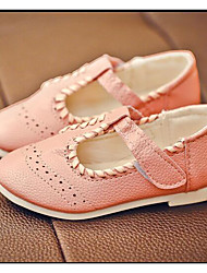Girl's Flats Comfort PU Outdoor Athletic Casual Pink White Running