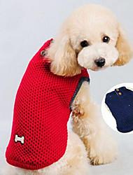 Chien Manteaux Rouge Bleu Vêtements pour Chien Hiver Couleur Pleine cow-boy Décontracté / Quotidien