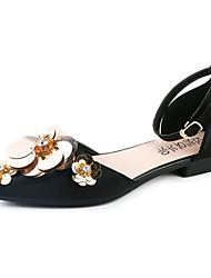 sandales semelles de lumière similicuir fête d'été&robe de soirée talon plat casual marche appliques
