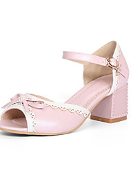 Sandals Spring Summer Club Shoes PU Outdoor Chunky Heel Rhinestone