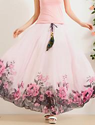 Sign 2016 spring and summer women's chiffon skirt bust skirt big skirt elastic waist skirts