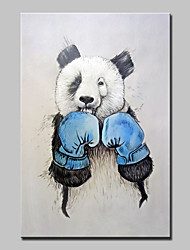 Hand Painted Modern Abstract Boxing Bear Animal Oil Painting On Canvas Wall Art Pictures For Home Decoration Ready To Hang
