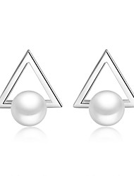 Earring 925 Sterling Silver Imitation Pearl Stud Earrings Jewelry Wedding Party Daily Casual