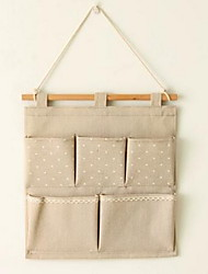 Storage Bags Textile withFeature is Open  For Cloth Hanging Bag Wall Bag Random Pattern