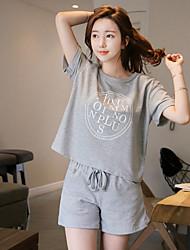 sport loisir costume courir été femelle lâche short verges coréenne à manches courtes de sport pièce