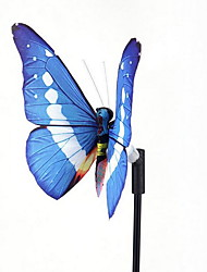 Solar Lights Colorful LED Fiber Butterfly Decorative Lights