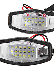 2 X 8 LED 1210 Smd License Plate Lights Lamp For Honda Accord 4D Civic Odyssey City 4D