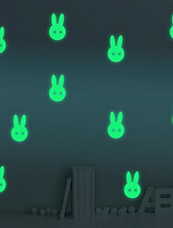 Cartoon Rabbit Luminous Wall StickersVinyl Material Home Decoration