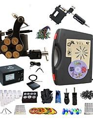 Kit completo para tatuaje   1 x máquina de tatuaje rotativa para línea y sombreado Una aleación x tatuaje máquina para revestimiento y