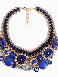 Women's Strands Necklaces Jewelry Jewelry Gemstone Gem Alloy Euramerican European Floral Fashion Personalized Jewelry ForParty Special