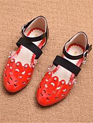 sandales confort pu décontracté en plein air rouge running rose