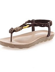 Sandals Summer Slingback PU Outdoor Office & Career Dress Casual Low Heel Braided Strap Black White Light Brown