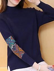 # 4183 nationale Wind halb hohen Kragen kurzen Absatz feste Farbe Pullover Frauen äußere Abnutzung dicken Pullover Hemd grundiert Saison
